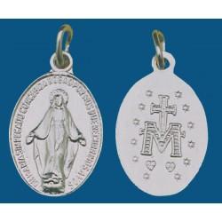 Medalla grande de aluminio en blanco. Bolsa de 200 uds. Mod.8