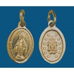 Medalla pequeña de aluminio dorada. Bolsa de 200 uds. Mod.11