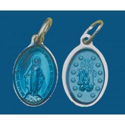 Medalla pequeña de aluminio en blanco esmaltada a dos caras. Bolsa de 1000 uds. Mod.12