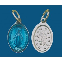 Medalla pequeña de aluminio en blanco esmaltada a una cara. Bolsa de 1000 uds. Mod.13