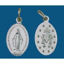 Medalla mediana de aluminio en blanco. Bolsa de 1000 uds. Mod.14
