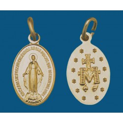 Medalla mediana de aluminio dorada. Bolsa de 1000 uds. Mod.15